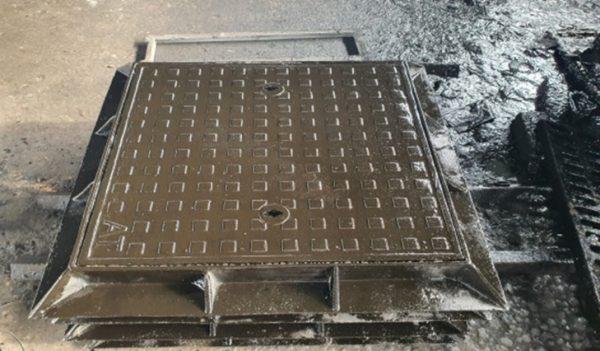 Nắp hố ga khung vuông nắp vuông kín 940x940