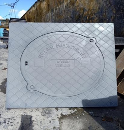 Nắp hố ga khung dương composite